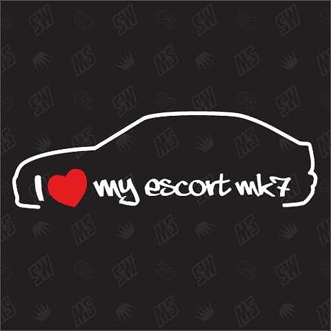 I love my Ford Escort MK7 -Sticker, Bj 95-97