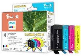 Peach H364XL bk, c, m, y Spar Pack Druckerpatronen mit Chip kompatibel zu HP Nummer 364XL