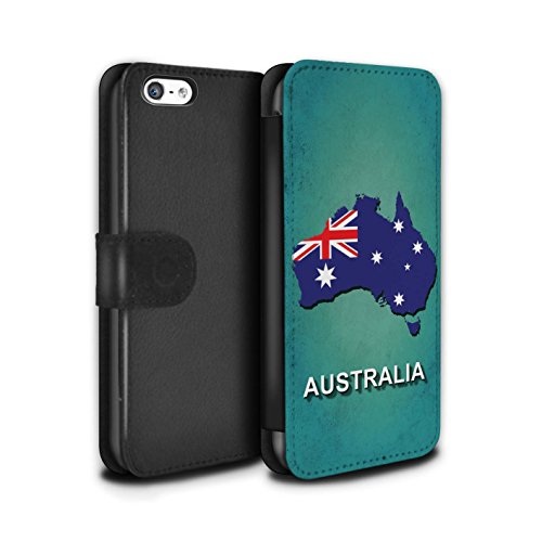 Stuff4 Coque/Etui/Housse Cuir PU Case/Cover pour Apple iPhone 5C / Italie/Italien Design / Drapeau Pays Collection Australie