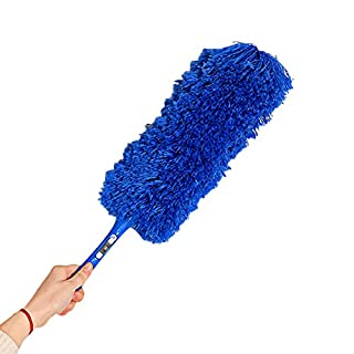 CalvinbiMagic Soft Microfiber Cleaning Duster Dust Cleaner Handle Feather Static Anti Delicate Good Hand Home Office Car,