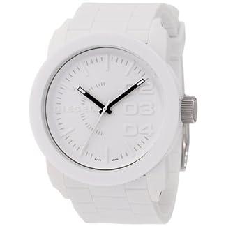 Diesel DZ1436 – Reloj analógico de Cuarzo para Hombre con Correa de Silicona, Color Blanco