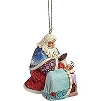 Hearwood Creek 4041110 Sospensione, Babbo Natale con il Piccolo Jesù Resina, Disegno di Jim Shore, 9.5 cm
