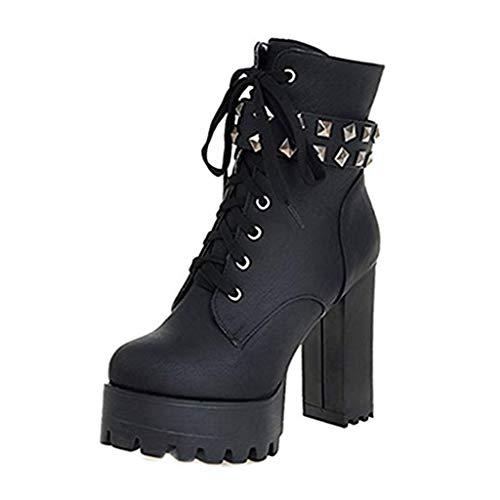 Botines Gótico para Zapatos De Las Mujeres Que Montan Grueso...