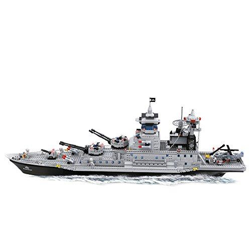 Ausini - Juego de bloques construcción Buque Guerra & lanza misiles - 1.446 piezas (ColorBaby 42856)