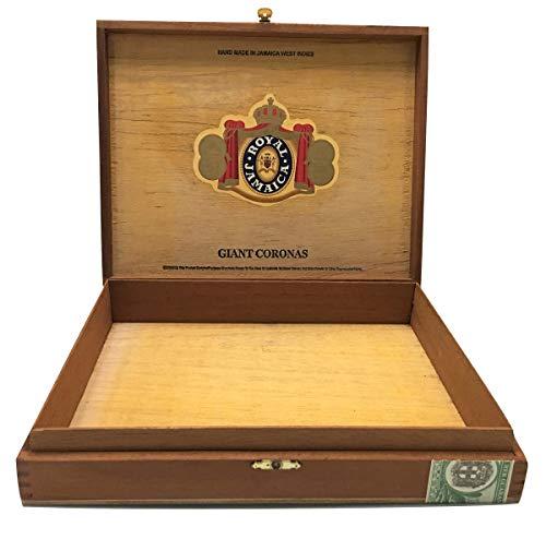 Zigarren Premium Holz-Papierbox leer Box für Basteln, Gitarren oder Aufbewahrung Royal Jamacia Giant Coronas braun