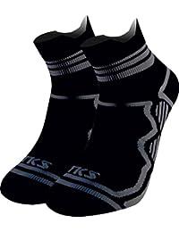 TKS PACK 2 PARES CALCETINES TOBILLEROS MODELO EDETANO UNISEX, calcetines deportivos, gran polivalencia, running,…