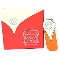 Volkswagen Original Slim Encendedor en la Parte Delantera diseño Set de Regalo – Oficial Mechero Delgado