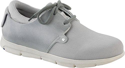 BIRKENSTOCK MINOT scarpe unisex sneakers pelle/tela (38 EU, OFFWHITE)
