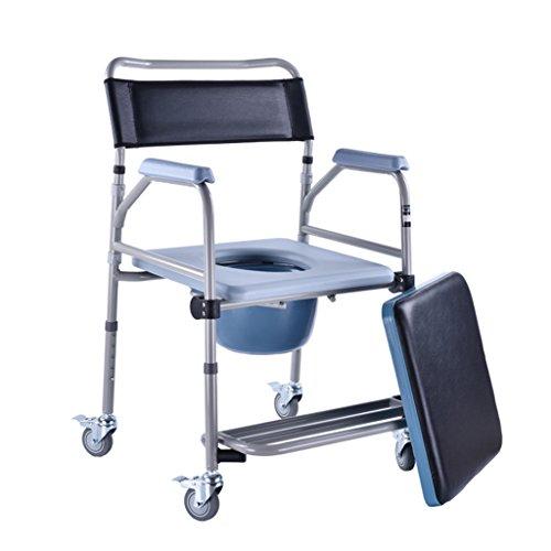 MyAou-commode Chaise Pliante Pliant la Toilette de sécurité de Taille réglable avec Le siège de Toilette de Fauteuil Roulant