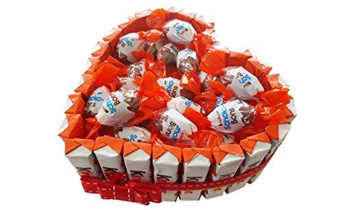 Irpot - torta kinder schoko bons cuore kit fai da te kittk05 barrette cioccolato ovetti