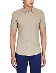 United Colors of Benetton Mens Casual Shirt (8903239904724_15P5068L8934I_Small_Beige)