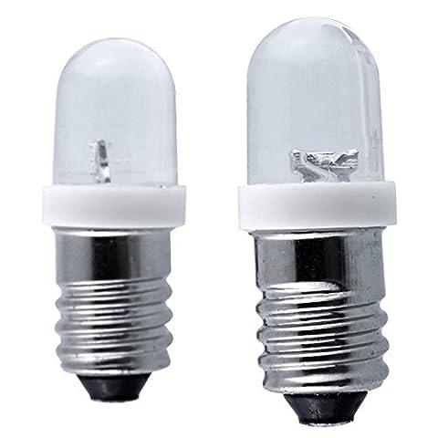 Lugii Cube Mini lampe de signal d'avertissement ampoules E10DC 6/12/24V LED Indicateur de culot à vis ampoule