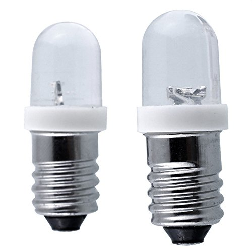 Br30 Dimmbare Cfl (Lanlan Mini Warnung Signal Lampe E10Leuchtmittel DC 6/12/24V LED Schraube Sockel Indikator Leuchtmittel 0,2W 6V weißes Licht)