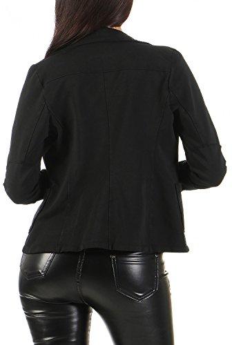 Damen Blazer Vintage Style, mit Taschen ( 545 ) Schwarz