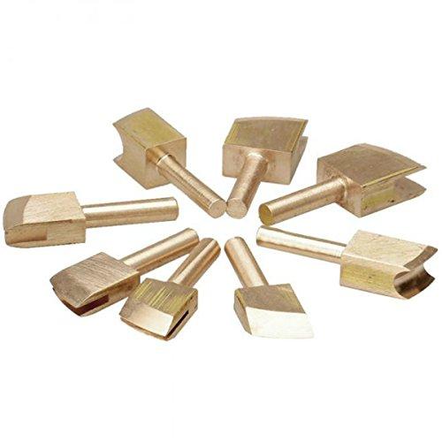 fireangels 8Hand Werkzeug Sets Single Line 1-9mm Leder Rand für Abdichtung DIY Werkzeug Messing Lötkolben Edge Markieren bonefolder Falzbein Spitze