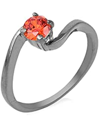 Florishkart Black Rhodium Alloy Metal Ring Wedding Ring Collection For Girl & Womens