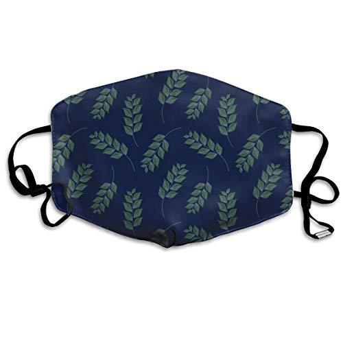Branches On Dark Blue Upholstery Fabric Mask Mouth Mask Neck Gaiter Mask Bandana Balaclava Easter St. Patrick's Day