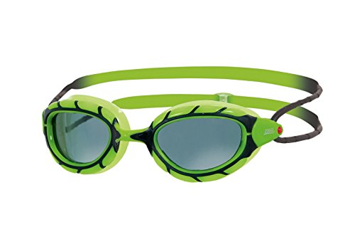 Zoggs Kinder Predator Junior Schwimmbrille, Green/Black/Smoke, One Size