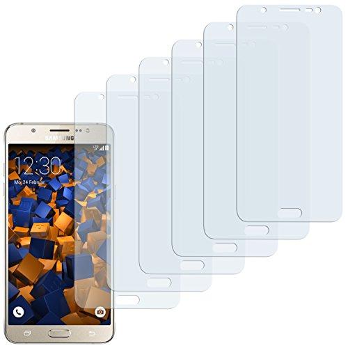 mumbi Schutzfolie kompatibel mit Samsung Galaxy J7 2016 Folie klar, Bildschirmschutzfolie (6x)