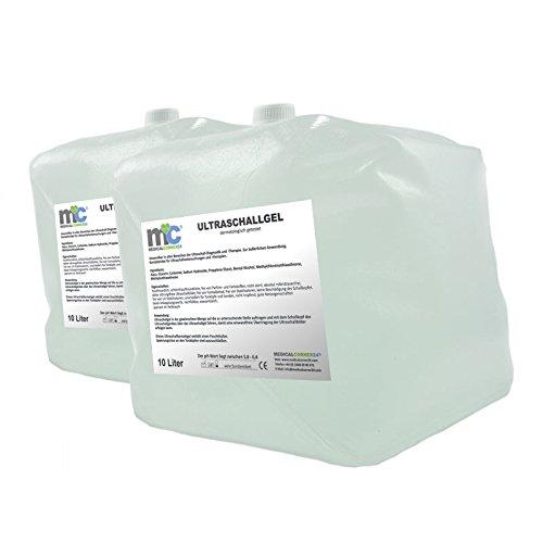 Ultraschallgel - 2x 10kg Cubitainer, 20kg Kontaktgel, Leitgel, Sonogel, Sonographiegel -