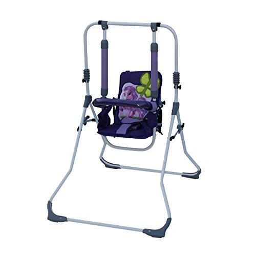 chaukel 'SWING' Indoor Baby Schaukel und Hochstuhl in einem, Sicherheitsgurt mit Bügel, gepolsterter Sitz, kompakt zusammenklappbar - Motiv: Pony ()