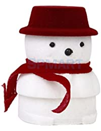 ELECTROPRIME Christmas Snowman Velvet Gift Box Ring Jewelry Display Storage Case Holder Xmas