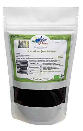 Allgäu Power Bio Acai Pulver 150 g 3 % Polyphenole ( Anti-Aging Beere )