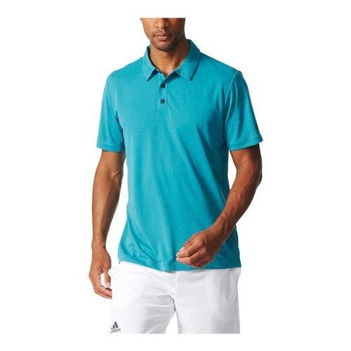 Adidas Climachill polo da tennis uomo tee Chill Easy Blue/Tech Green