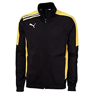 PUMA Kinder Trainingsanzug Esito Poly, black-team yellow, 176, 652595 07