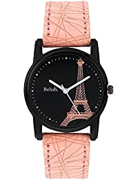 Relish Analog Eiffel Tower Black Dial Watches for Girls & Women RE-L066PT
