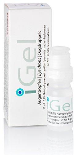 iGel® Augentropfen mit Hyaluronsäure gegen Trockene Augen, Rote Augen, Feuchtigkeitstropfen Für Kontaktlinsen ohne Konservierungsstoffe von AGEPHA