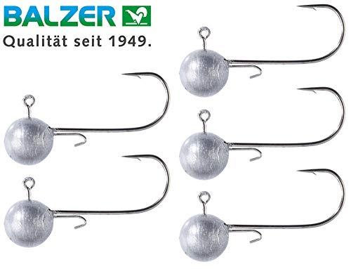 Balzer Shirasu Micro Jig - 5 Jighaken zum leichten Spinnfischen auf Barsche & Forellen, Jigköpfe zum UL Angeln, Bleiköpfe, Größe/Gewicht:Gr. 8 / 2g