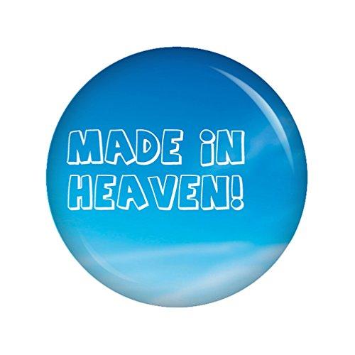r - Made in heaven Button Ansteckbutton 37mm für Wickeltasche oder Kinderwagen (Schwanger Bauch Dekorationen)