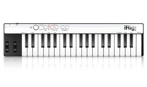 IK Multimedia iRig Keys 30 Pin Keyboard Controller Tastiera Portatile Accessorio per iPhone/iPad/iPod Touch/Mac/PC, Nero