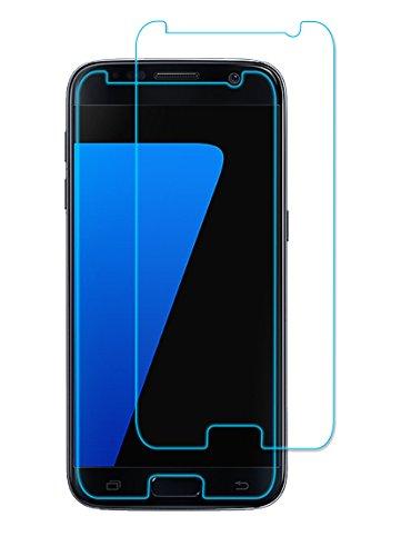 ELZO Samsung Galaxy S7 Panzerglas Schutzfolie, Panzerglasfolie, [2 Stück] Displayschutzfolie/Bildschirmschutz/Gehärtetes ballistisches Glas/Prämie Schützen Film - Kristall Klar/Ultra Dünn 0.26mm