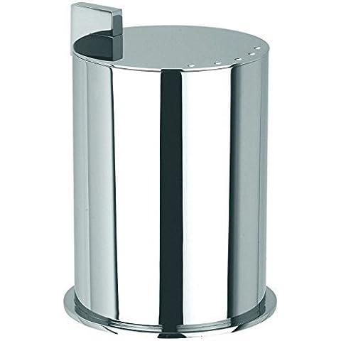 Ginger Kubic Solid Brass Vanity Jar No. 2, Large, Polished Chrome by Ginger