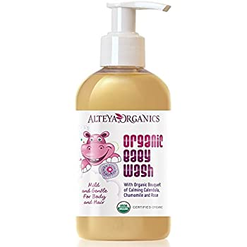 Alteya Organic Baby Wash 150 ml - USDA Certified Organic 100% Biodegradable Soap & Champoo - Pure Bio Natural Earth Friendly Vegan Mild and Gentle for Extra Sensitive Skin (Babies, Toddlers, Children) - Purifying and Nourishing for Body and Hair