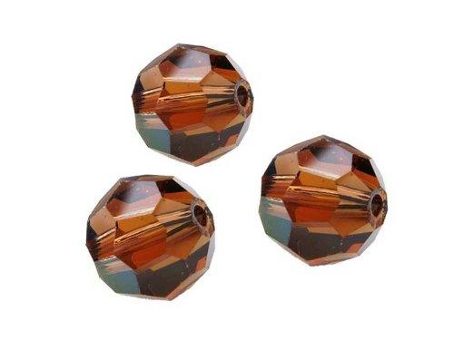 Creative-Beads Swarovski Perlen rund, 6mm, 10 Stück, Topaz AB -