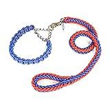 JIANXIN Hundeleine Mit Halsband Hundeleine, Drei Farben Und Größen Für Mittlere Bis Große Hunde (Farbe : B, größe : XL)