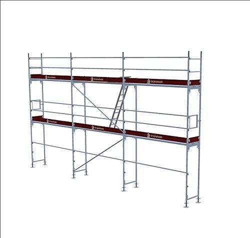 Baugerüst Alugerüst Aluminium Fassadengerüst ca. 58m² Assco quadro Malergerüst Gerüst Gerüste