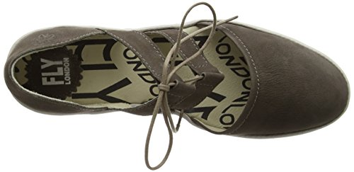 FLY London Poma, Sandales Compensées Femme Marron (Ground/Concrete 019)