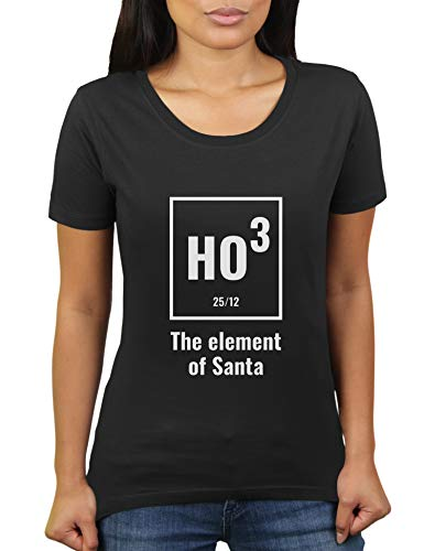 Element of Santa - Damen T-Shirt von KaterLikoli, Gr. 3XL, Deep Black ()