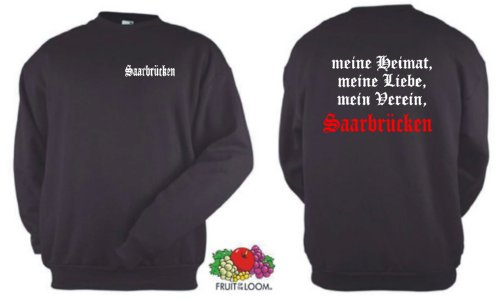 world-of-shirt Herren Sweatshirt Saarbrücken Ultras meine Heimat