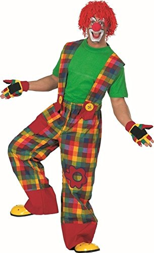 KARNEVALS-GIGANT Clown Hose bunt für Erwachsene | Größe 54 | 1-teiliges Clown Kostüm | Narr Unisex Faschingskostüm | Clownkostüm für Karneval
