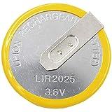 1x Batterie Akku LIR2025 Knopfzellen Akku (ersetzt VL2020) 3.6V für Autoschlüssel Fernbedienung Schlüssel