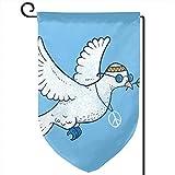 Lilyo-ltd The Hippie Dove Garten-Flagge, 31,8 x 45,7 cm, doppelseitig, Polyester