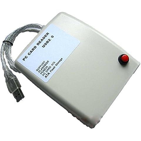jecxep USB2.0Interfaz PCMCIA lector de tarjetas, tarjeta de lectura Flash/Disco/ATA Card