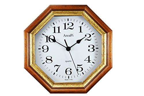 Orologio da parete in legno color noce elegante vintage