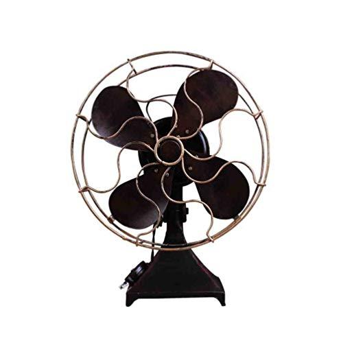 IMIKEYA Ventilador de Mesa Vintage Hierro Retro Ventilador de Pie Modelo Hogar Casual Escritorio Ventilador...