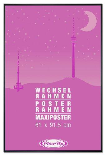 Bilderrahmen, Posterrahmen / FRAME / 61 x 91,5 cm, Schwarz / Black - für Großformatige Maxi Poster, Acrylglas - Der Klassiker / Close Up